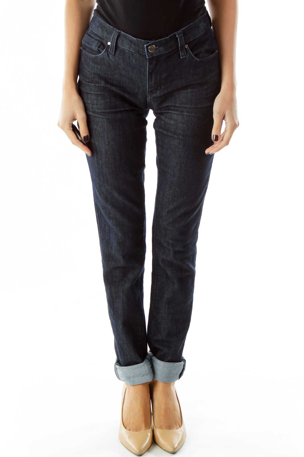 Navy Denim Skinny Jeans