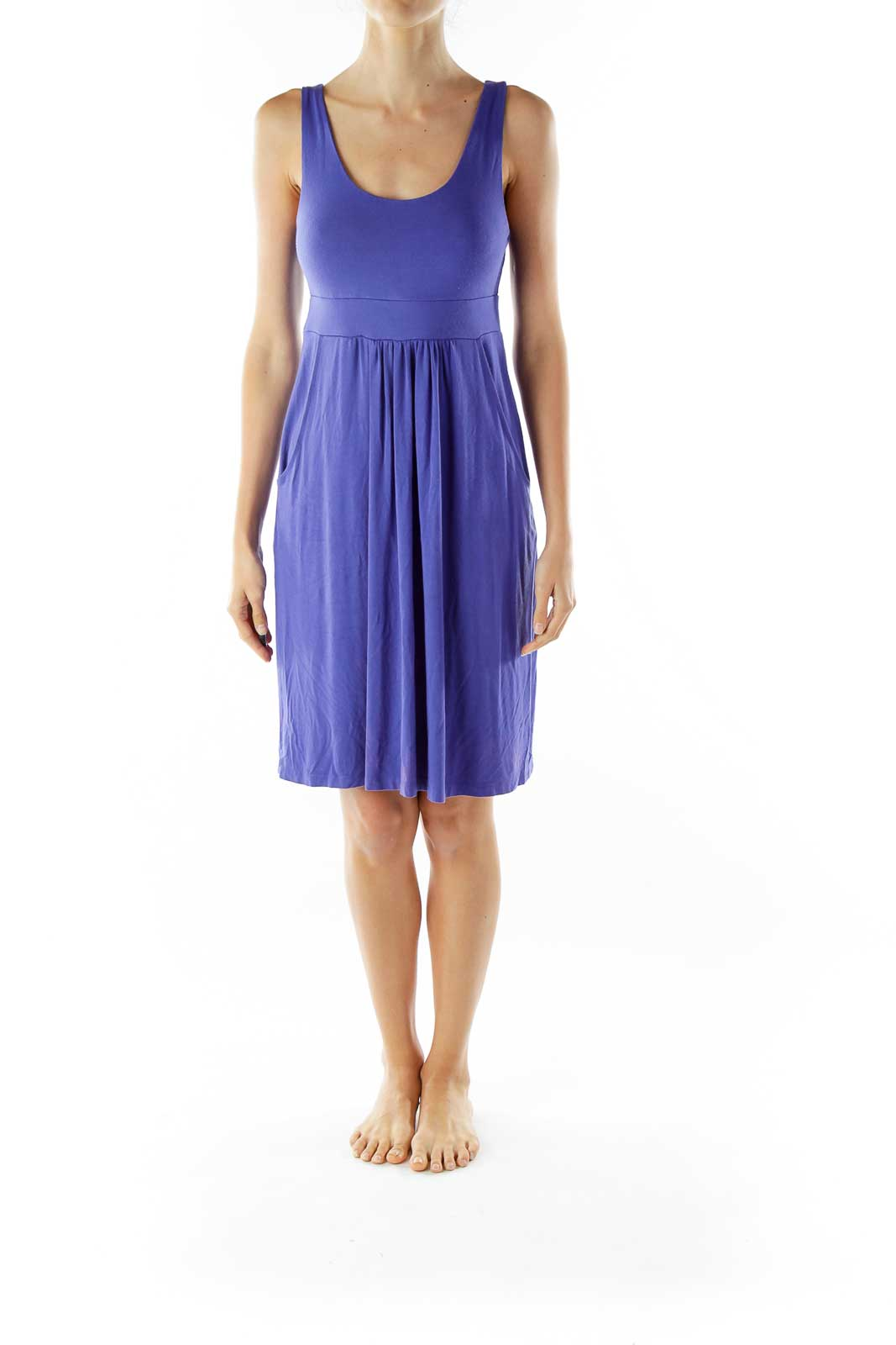 Purple Sleeveless Day Dress