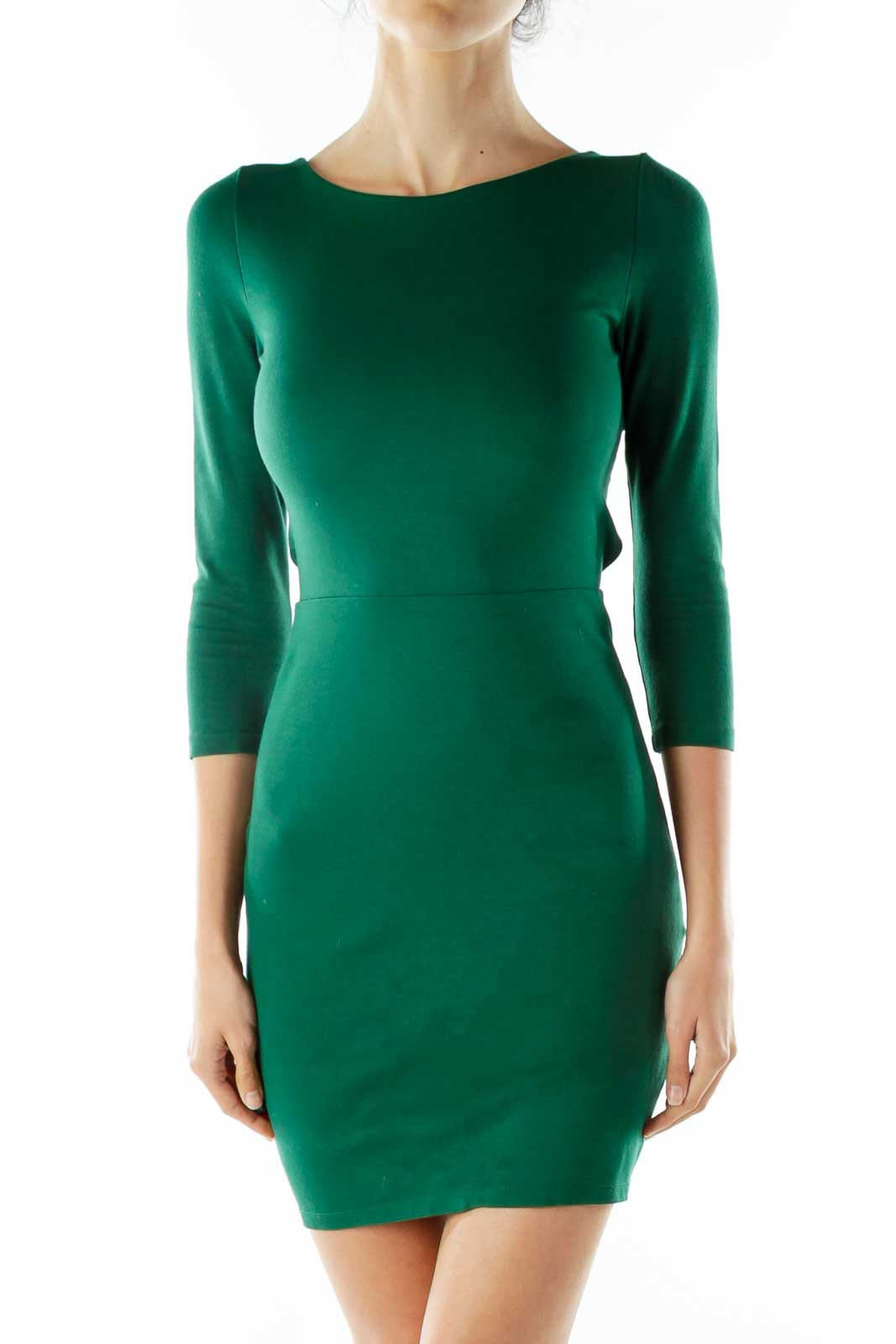 Green Cut-Out Dress