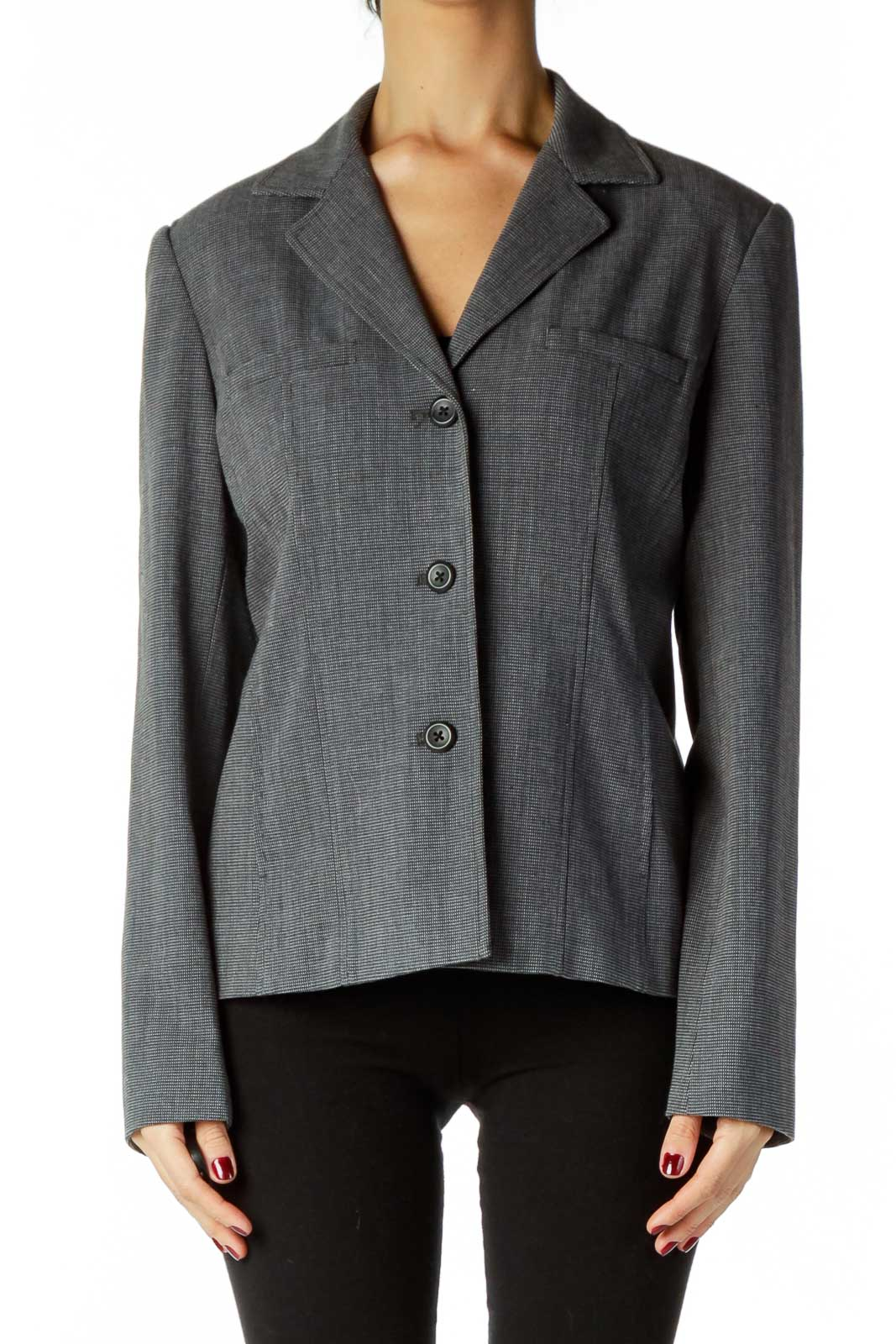 Black Gray Blazer