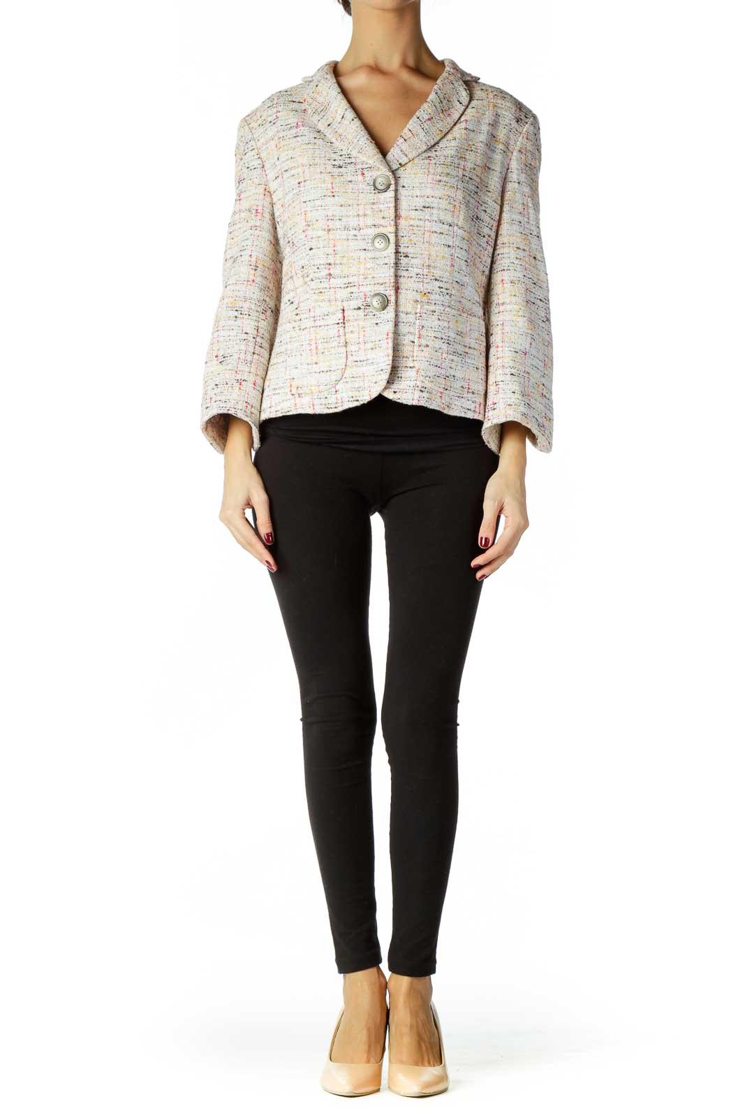 Multicolor Tweed Blazer