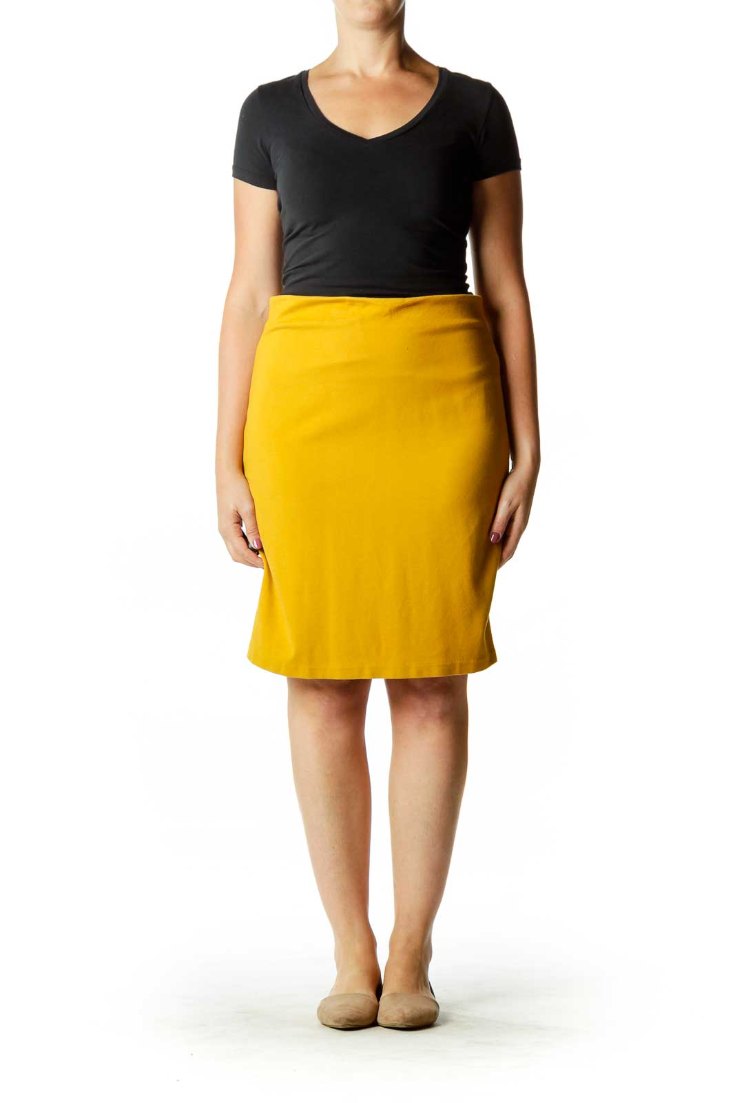 Mustard Yellow Pencil Skirt