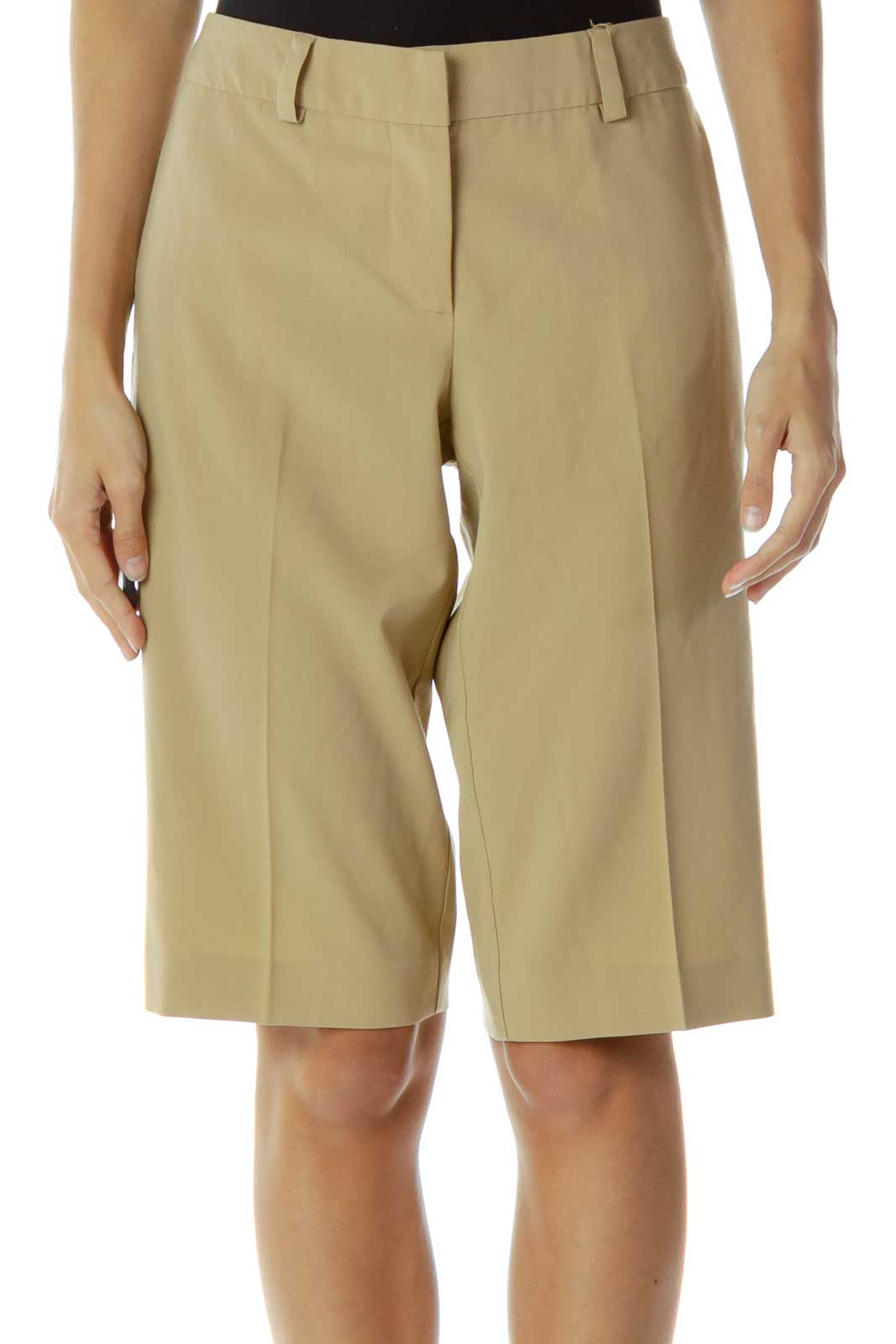 Brown Knee-Length Shorts