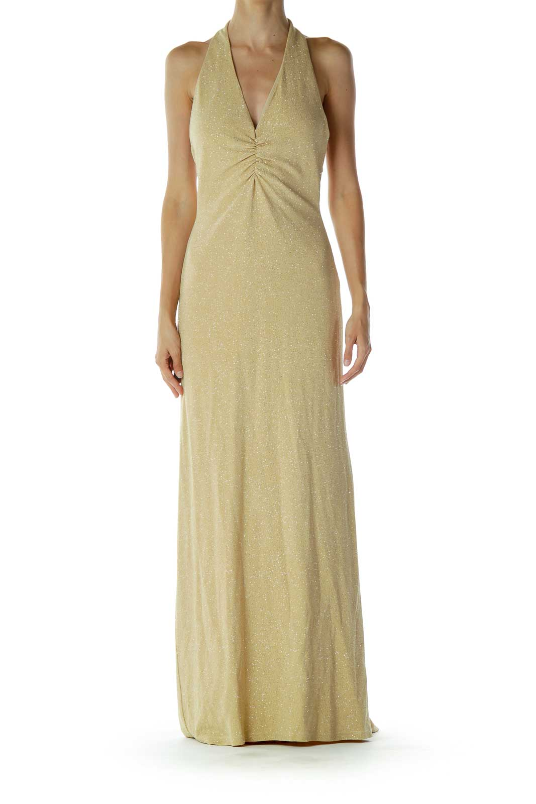 Gold Sparkly Evening Dress