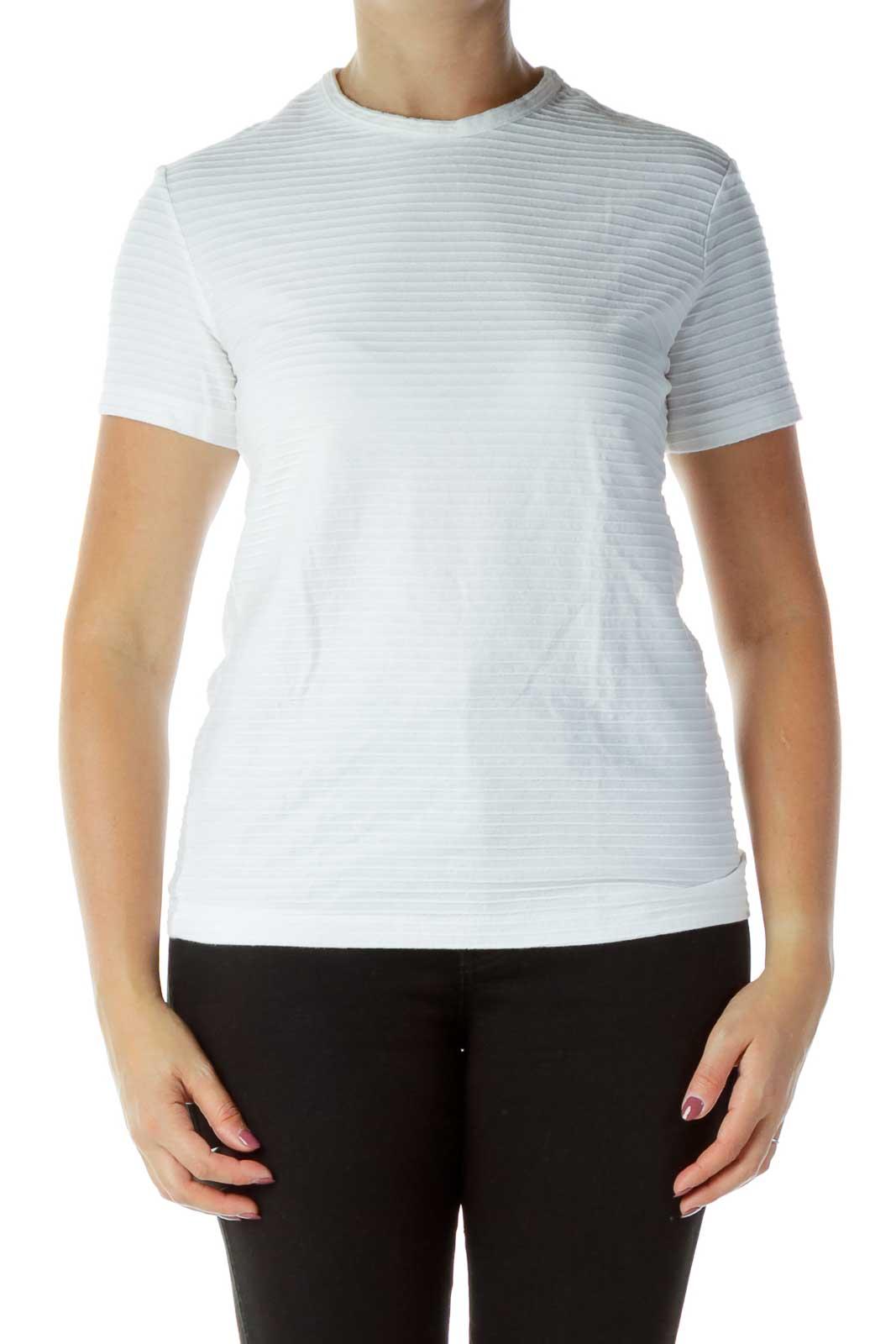 White Ribbed T-shirt