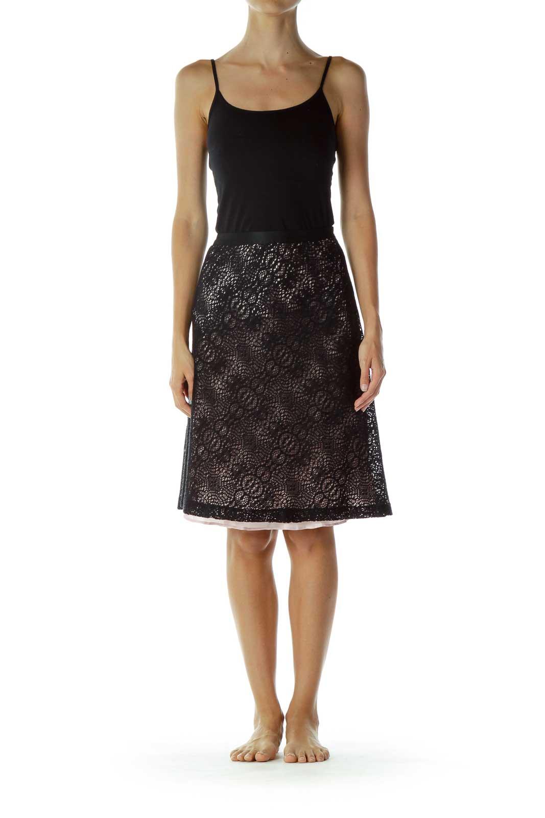 Black & Pink Lace Skirt