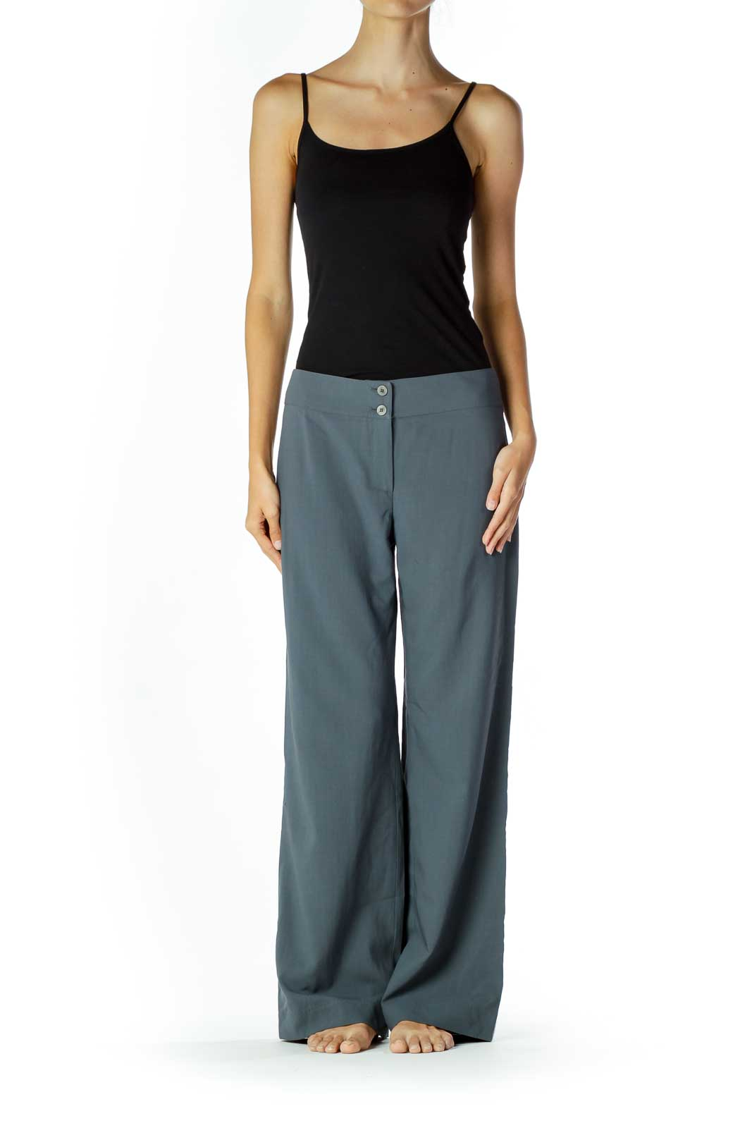 Gray Wide Leg Slacks