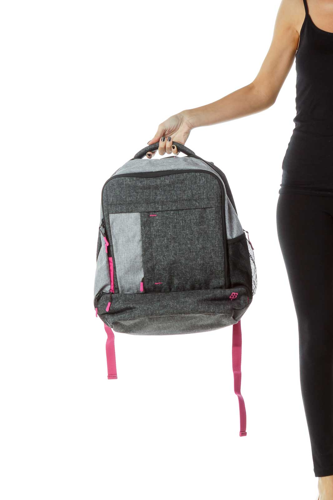 Gray Pink Mottled Backpack