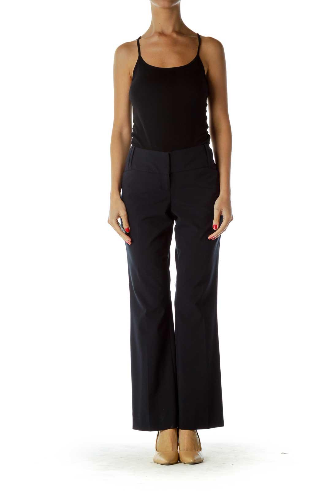 Navy Straight-Legged Pants