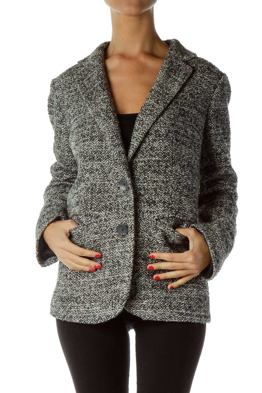 Black White Tweed Blazer
