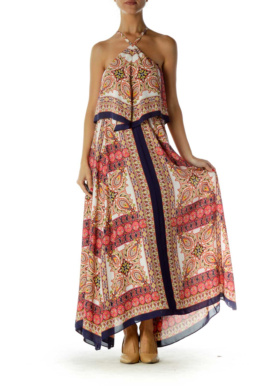 Multicolor Paisley Maxi Dress