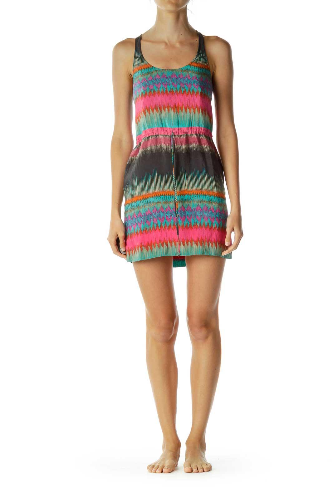 Multicolor Racerback Dress