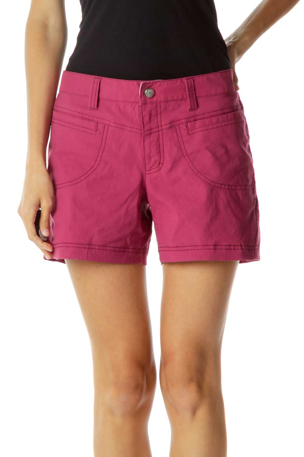 Purple Pocketed Sports Shorts