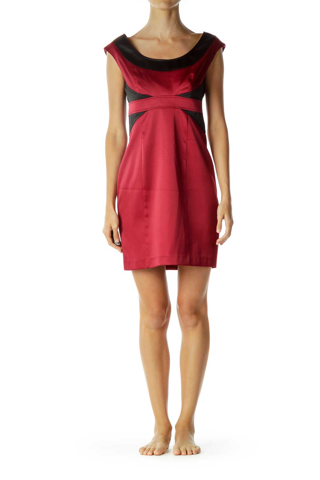 Red Black Sheath Dress