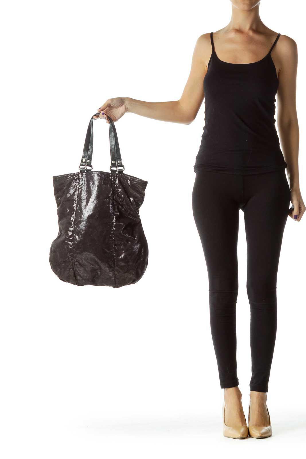 Black Sparkle Shoulder Bag