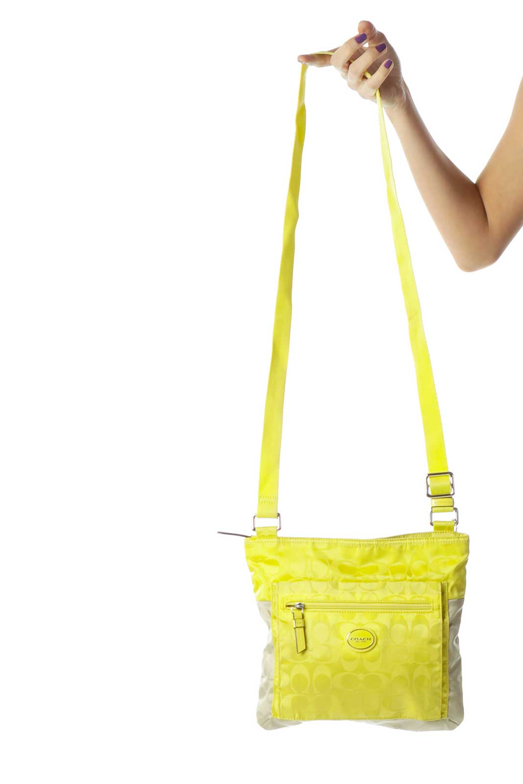 Yellow Beige Crossbody Bag
