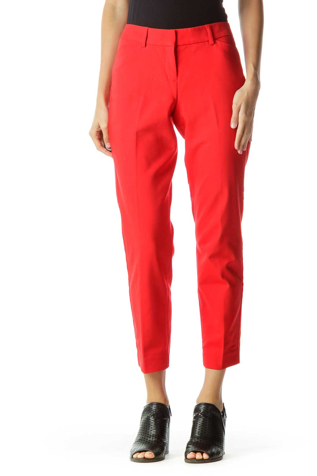 Red Tapered Slacks