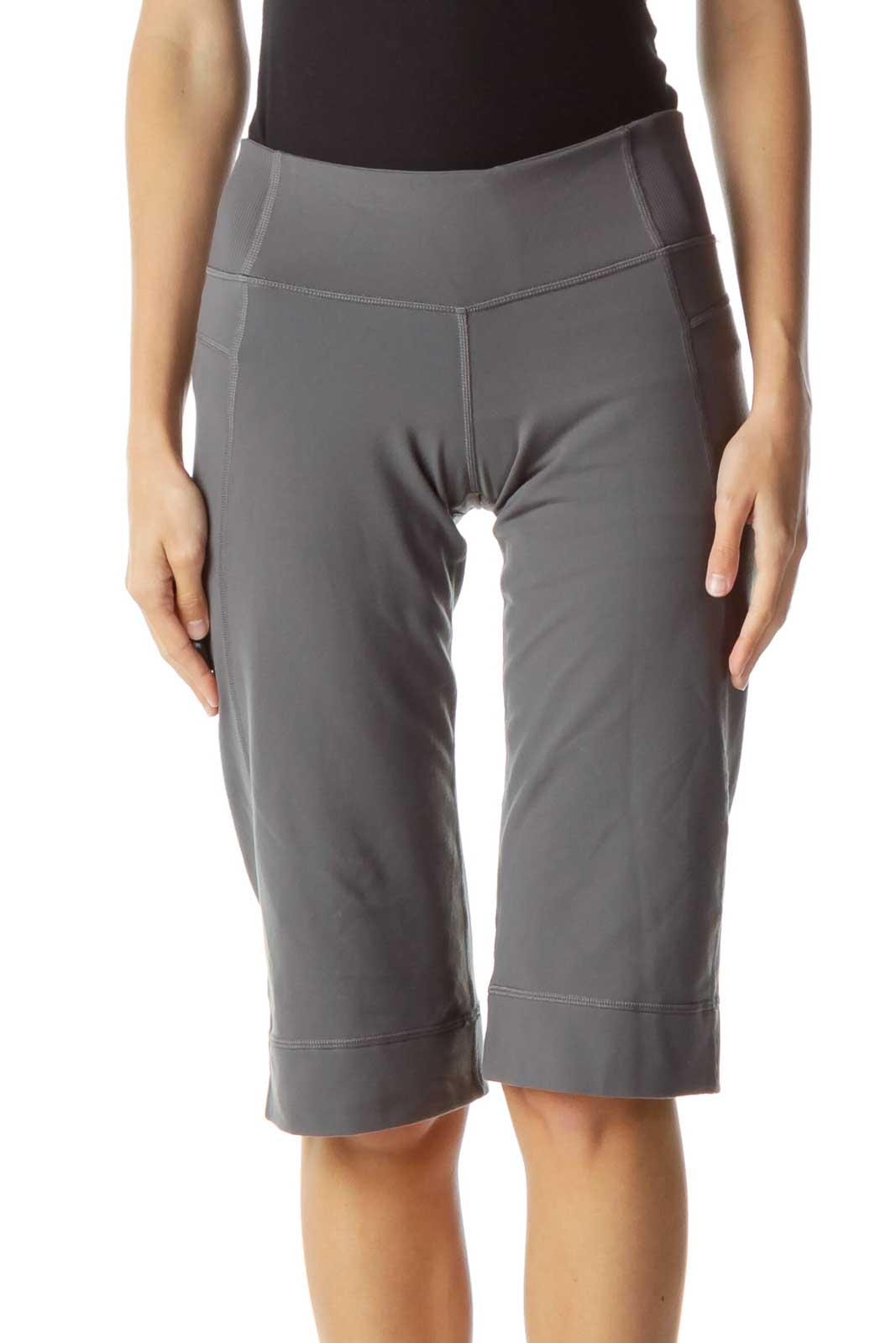 Gray Cropped Yoga Pants