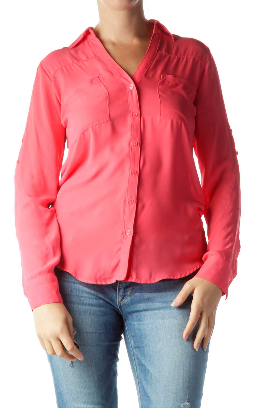 Pink Buttoned Collared Shirt