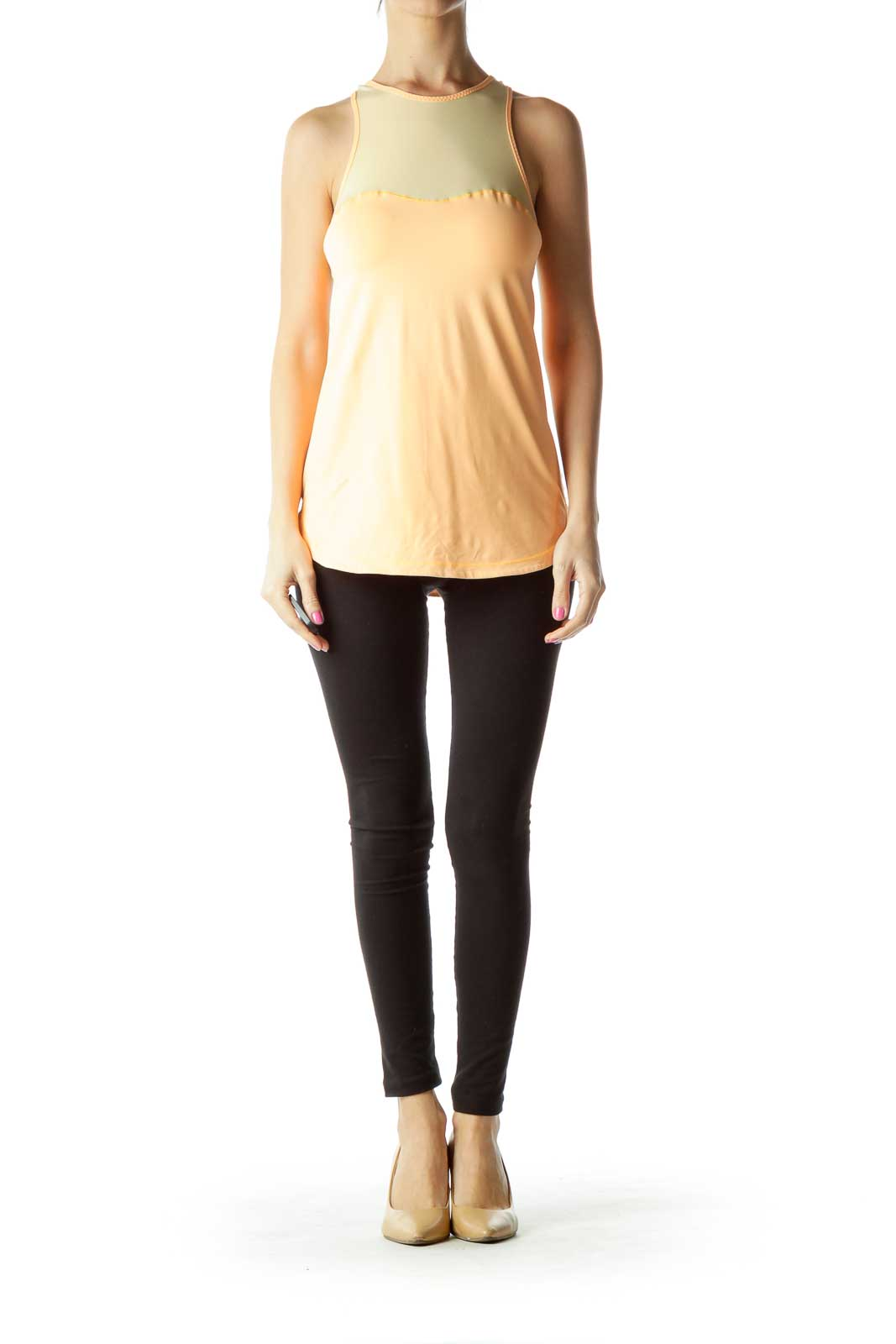 Orange Racerback Yoga Top