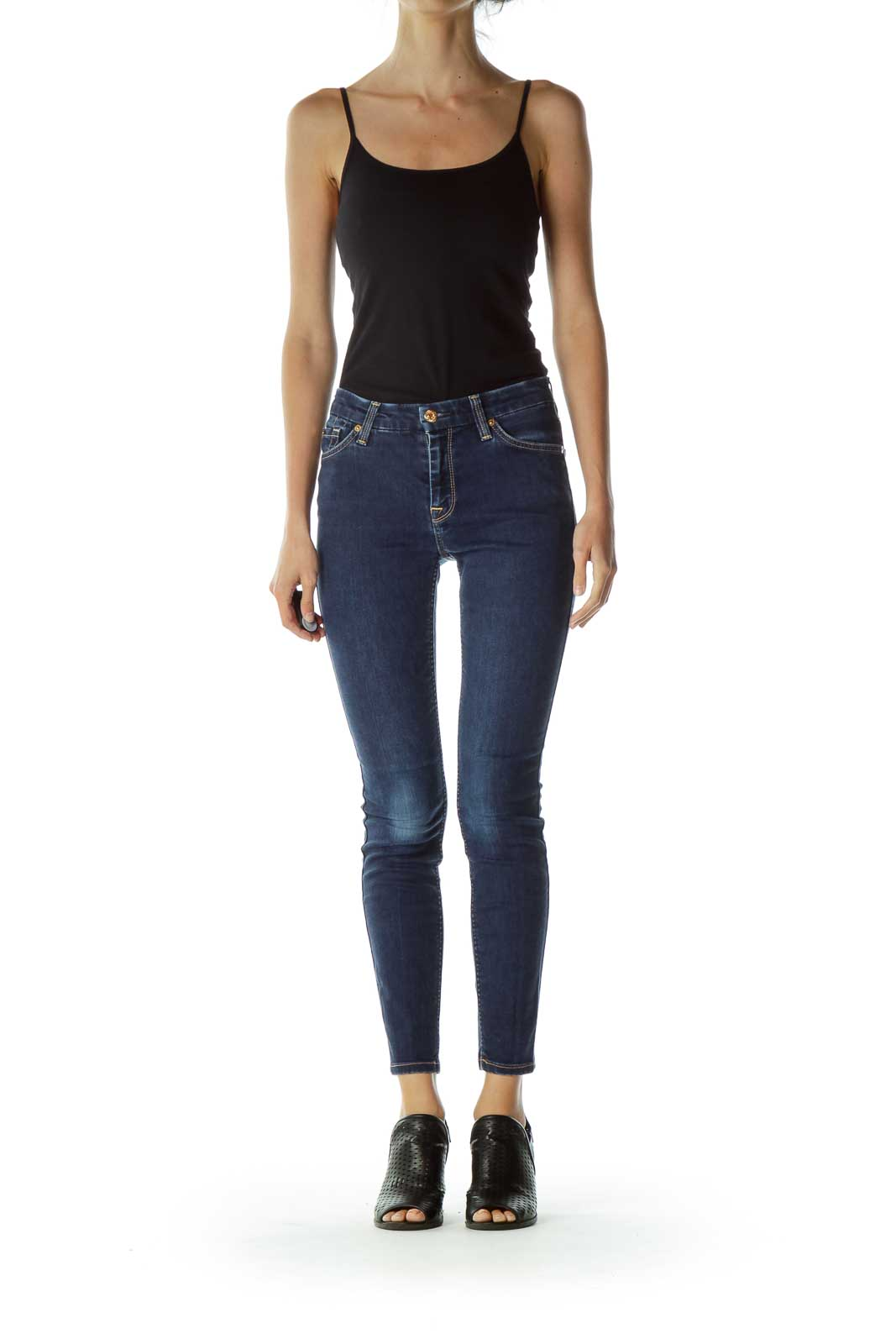 Blue Fitted Skinny Jeans