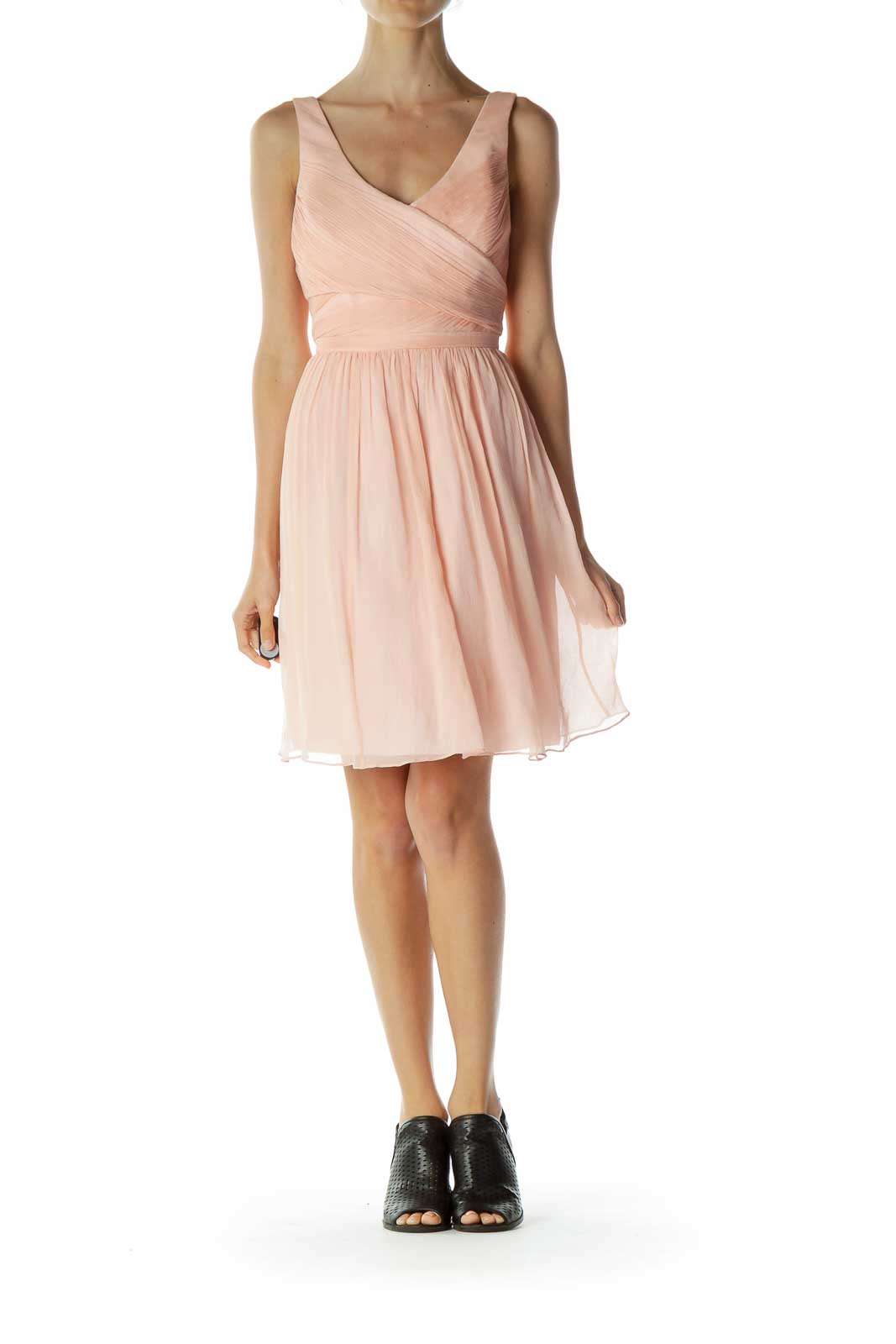 Pink Empire Waist Cocktail Dress