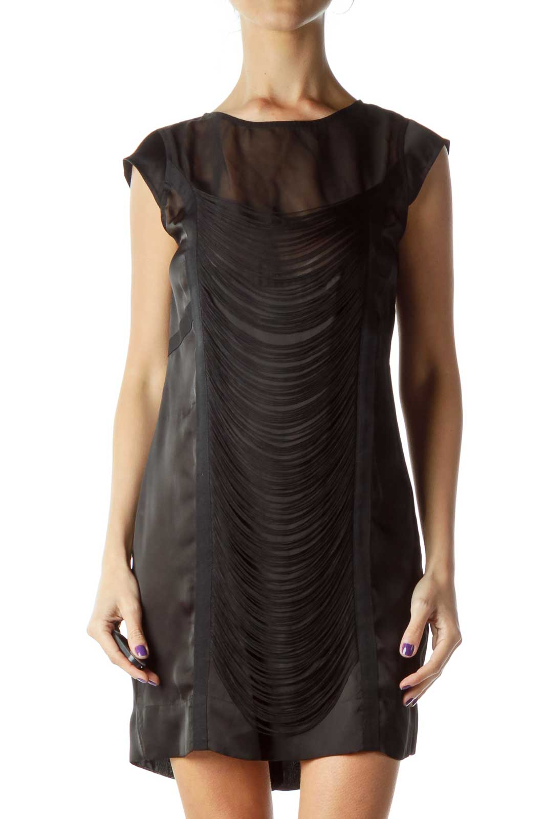 Black Fringe Cocktail Dress