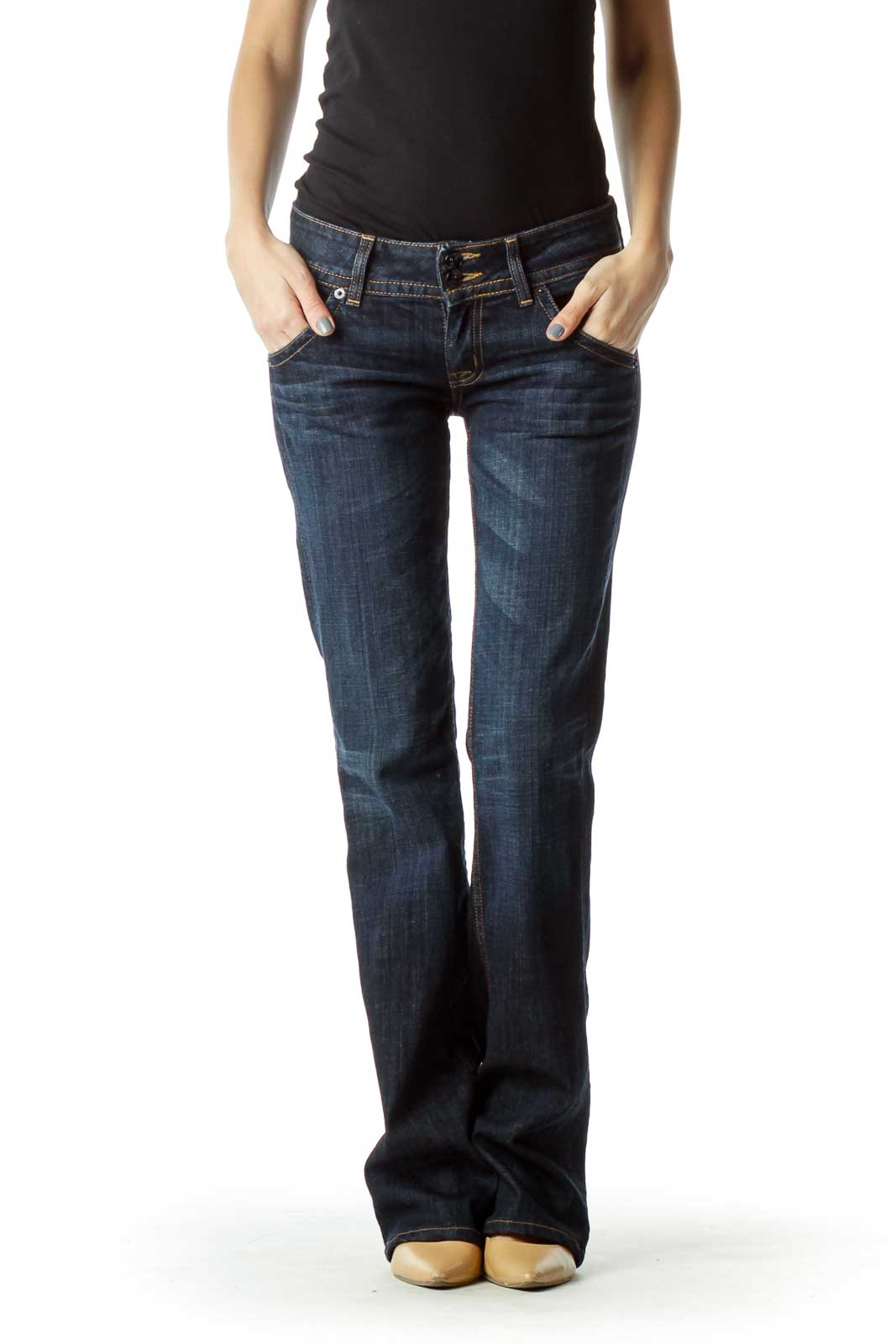 Dark Wash Flared Jeans