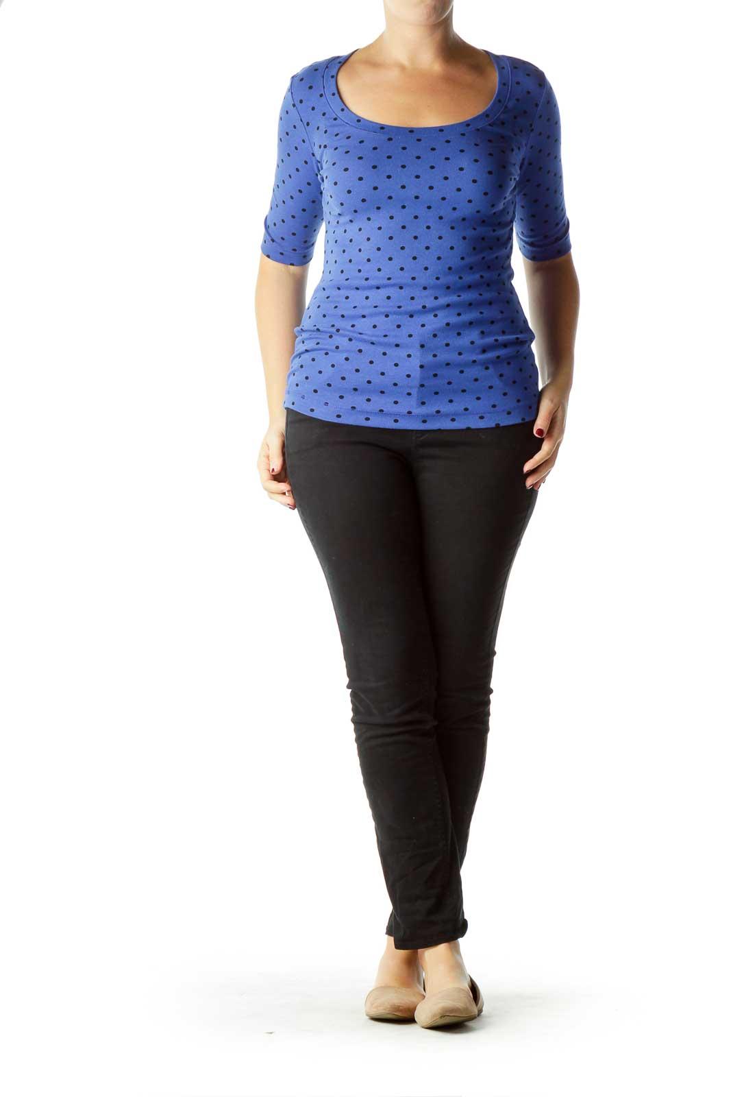 Blue Polka-Dot T-Shirt