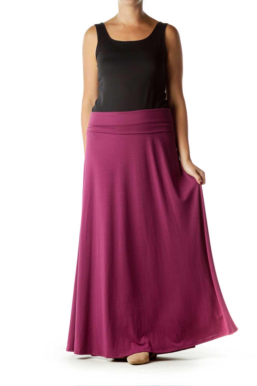 Purple Long Maxi Skirt