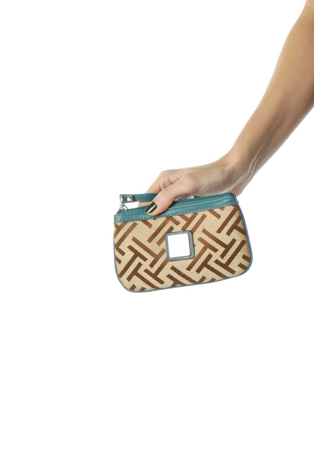 Green Brown Mini Clutch Monogram Bag