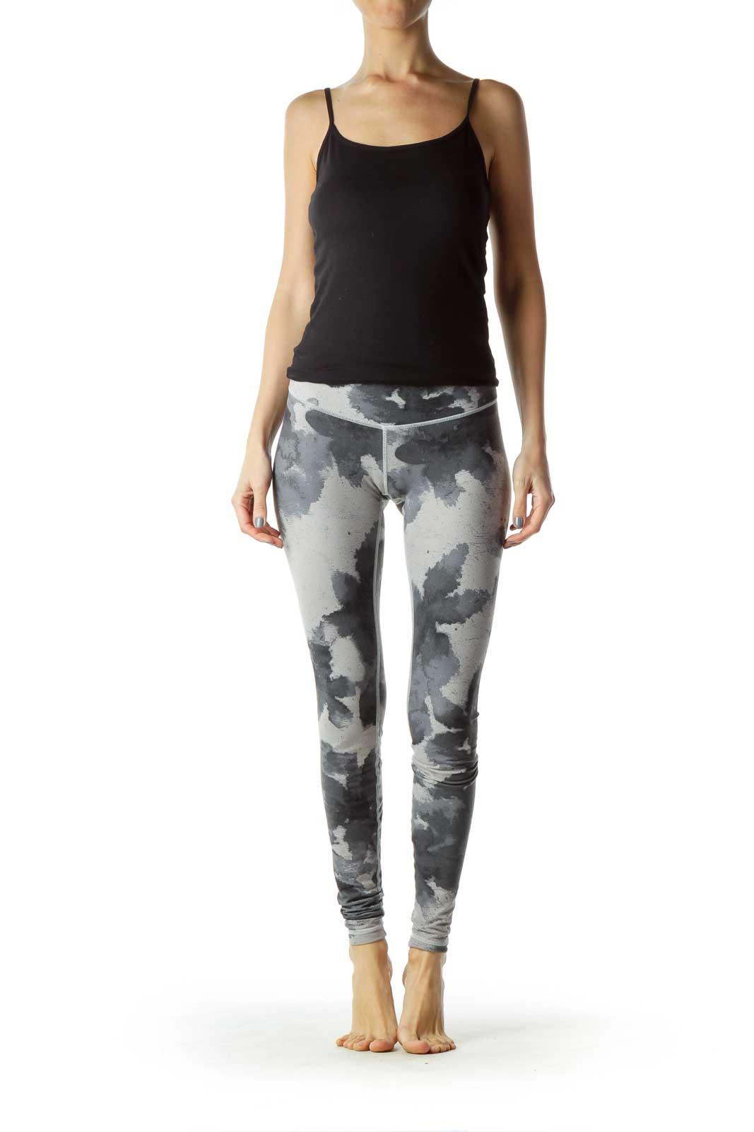 Gray Blue Printed Leggings