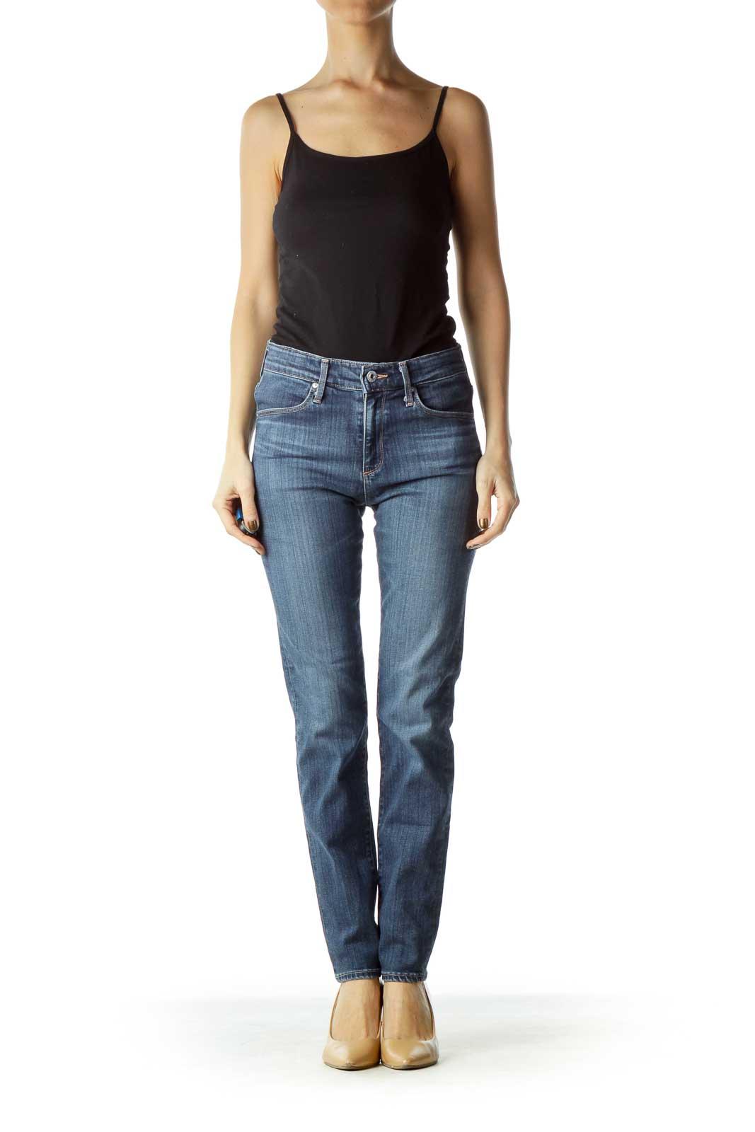 Navy Designer Skinny Jeans