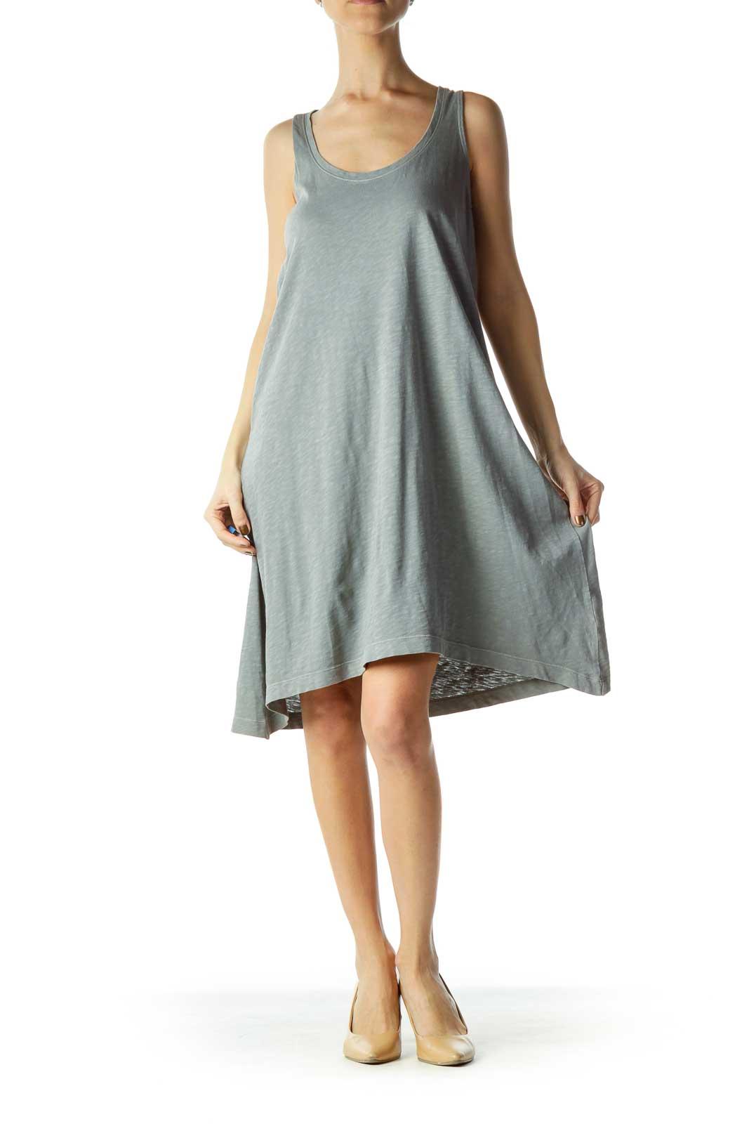 Grey Loose Jersey Dress