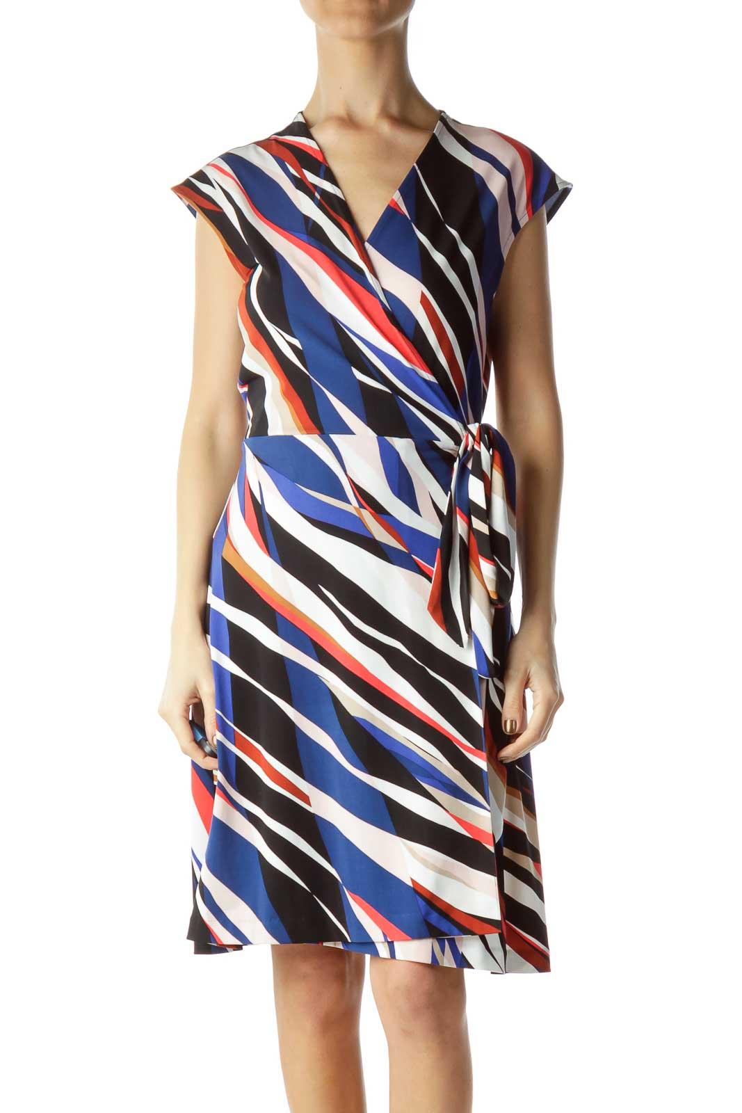 Multicolor Striped Day Dress