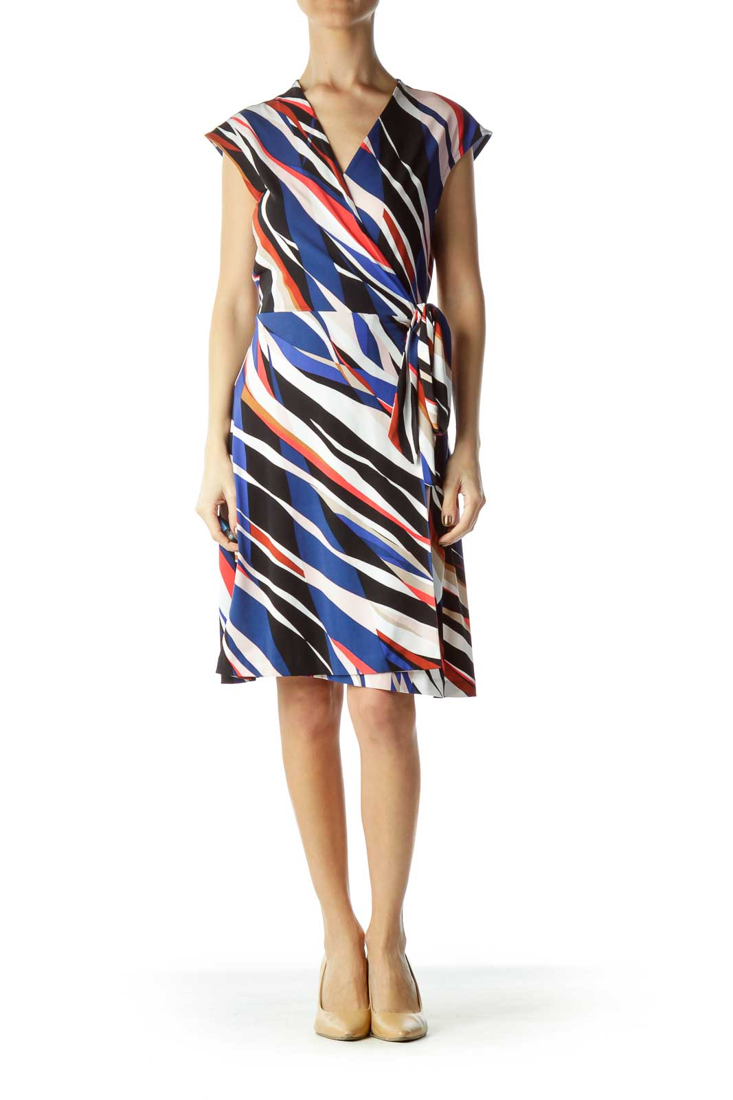 Multicolor Striped Day Dress