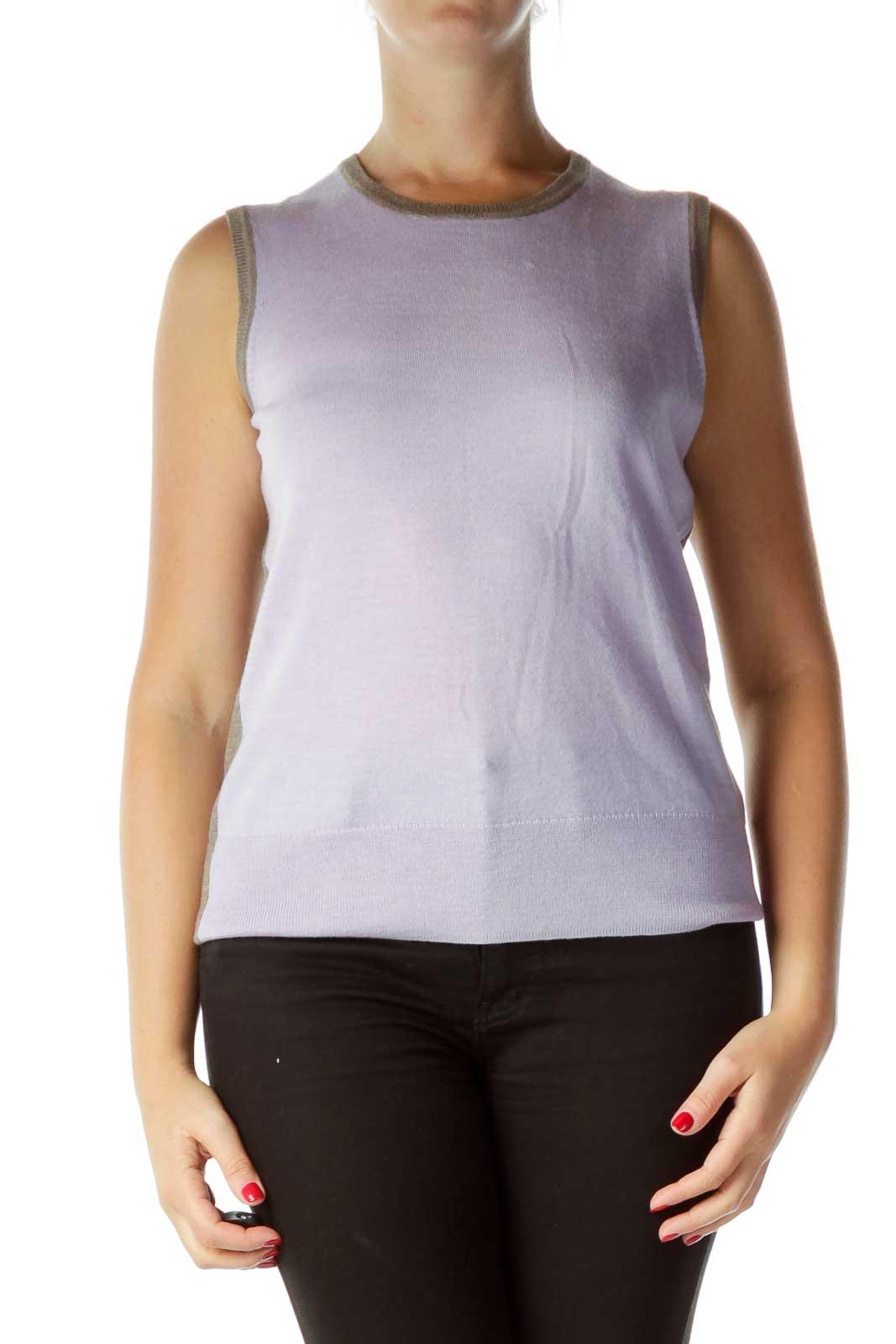Purple Brown Merino Wool Sweater Vest