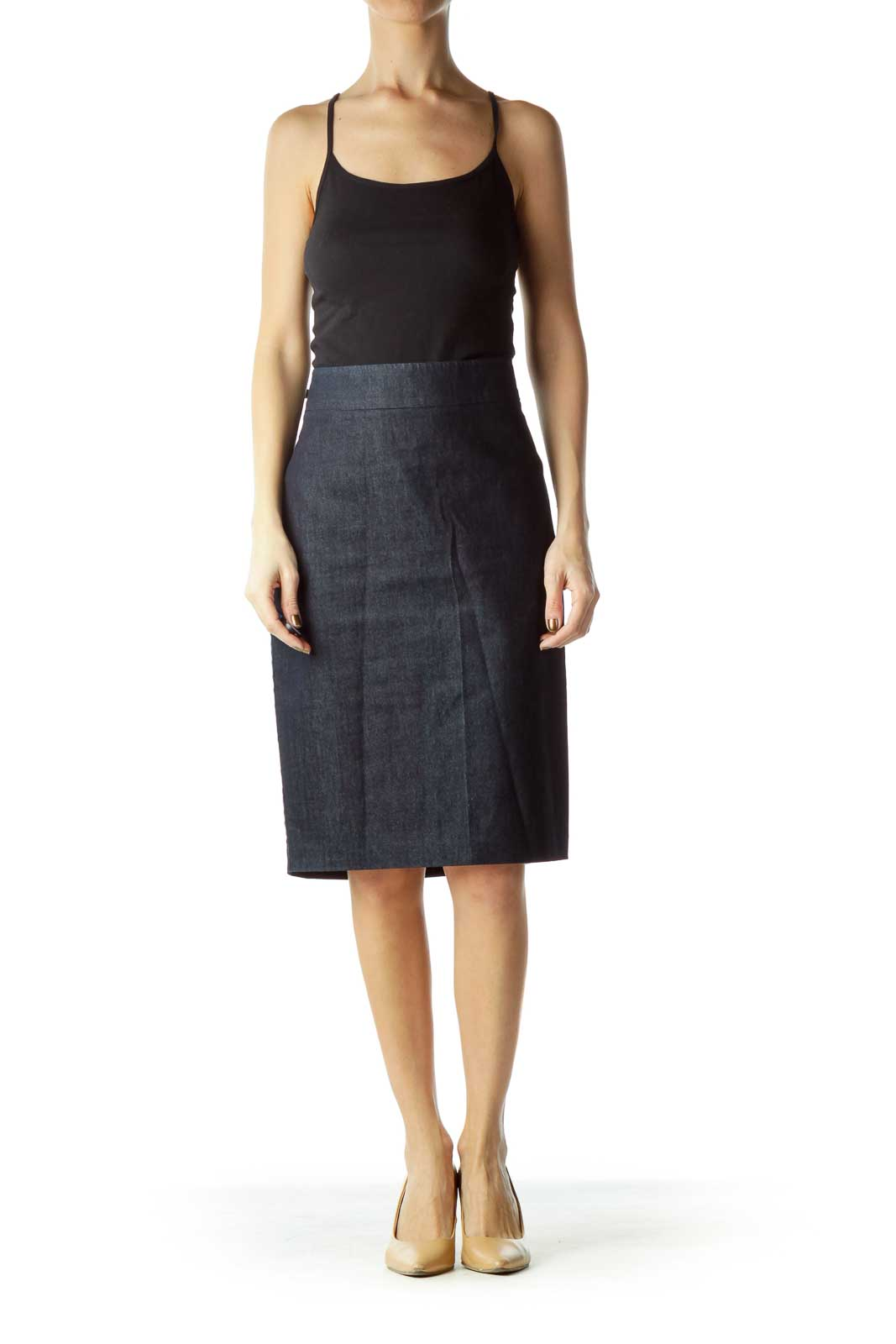 Blue Denim Pencil Skirts
