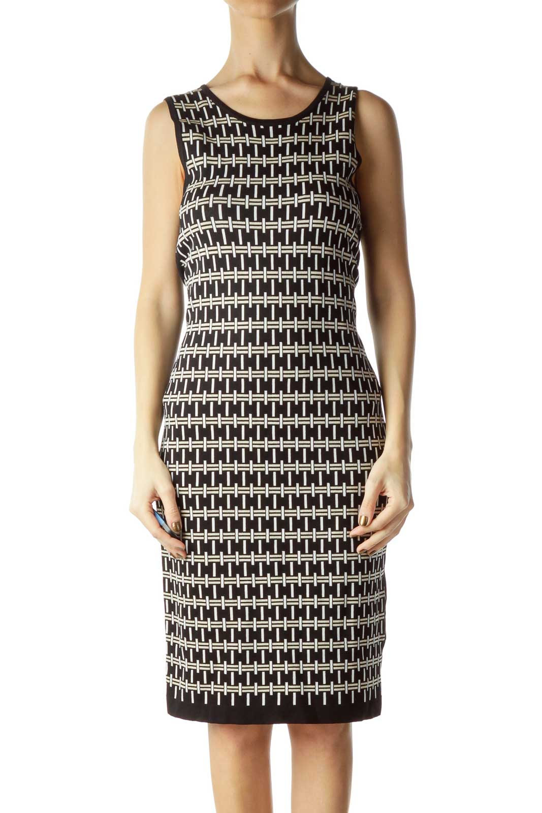 Sleeveless Print Knit Bodycon Dress
