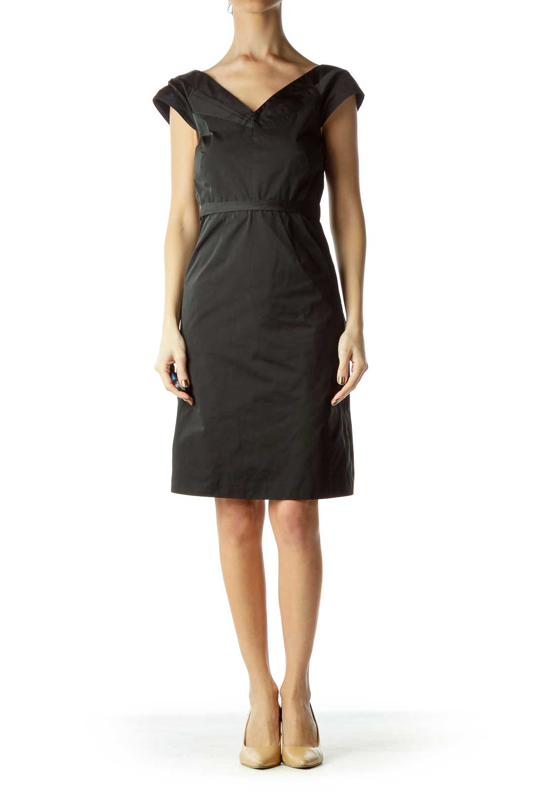 Black A-line Sleeveless Dress