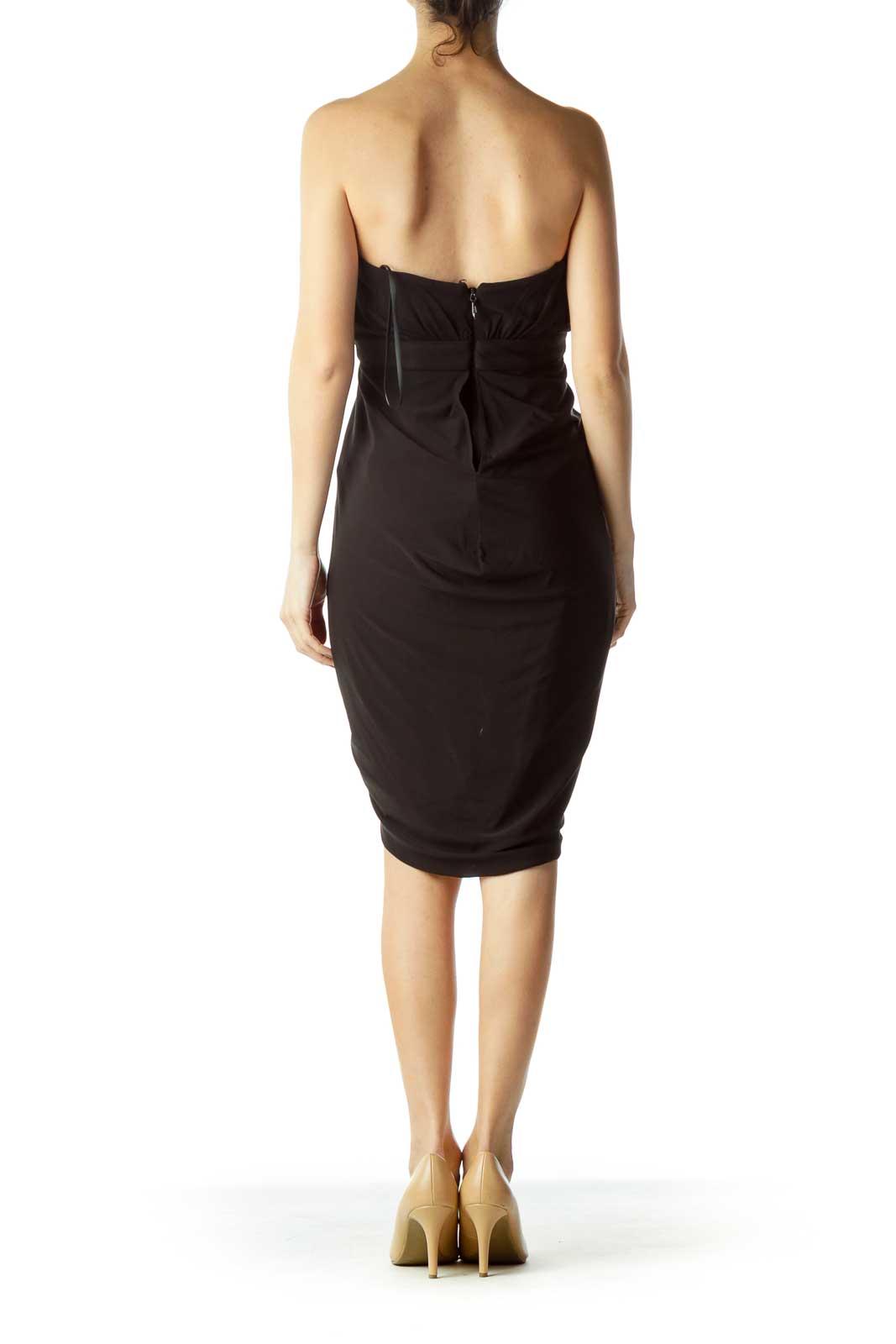 2728f131d690 Wristwatch by Versace. Next. BCBG MaxAzria. Black Strapless Wrap Cocktail  Dress