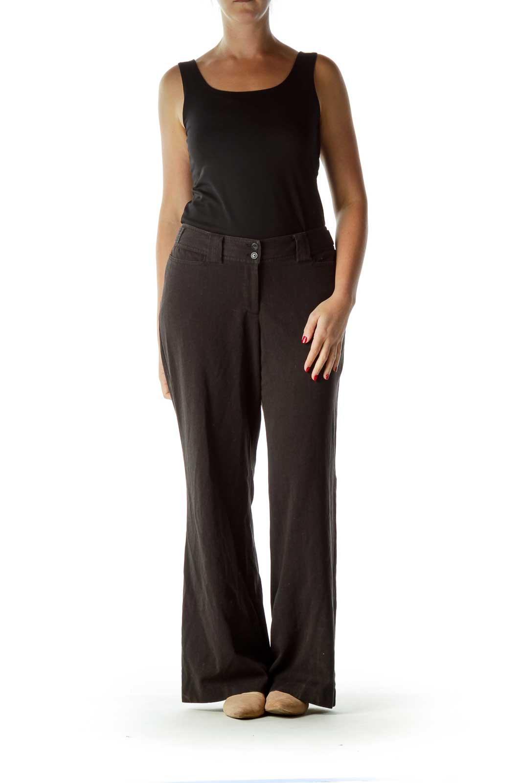 Black Straight Leg Soft Pants