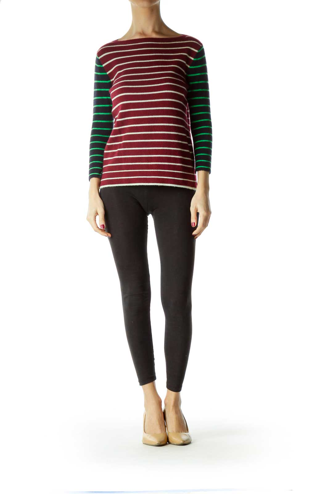 Red Striped Cashmere Sweater