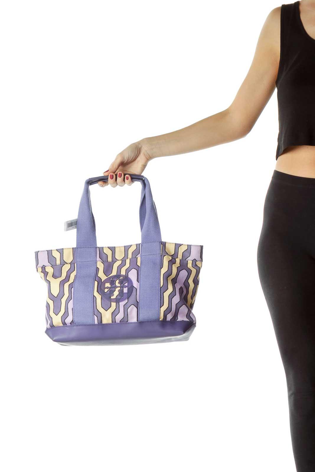 Purple Yellow Print Cloth Tote