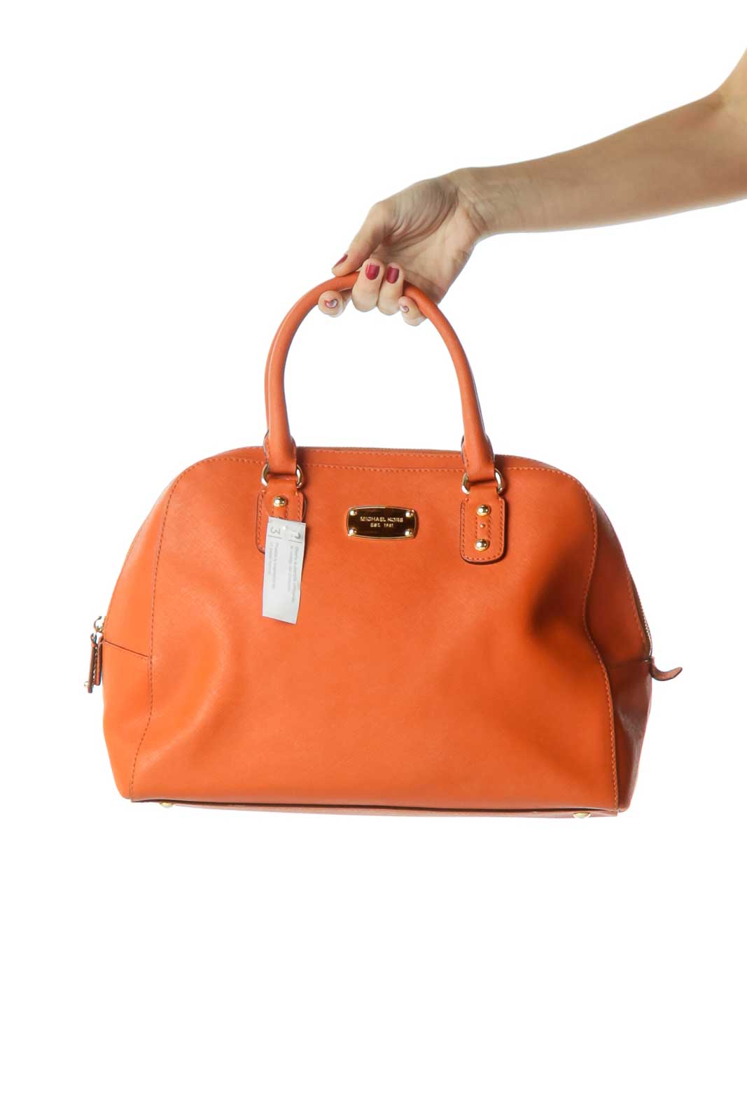 Orange Double Handle Large Satchel