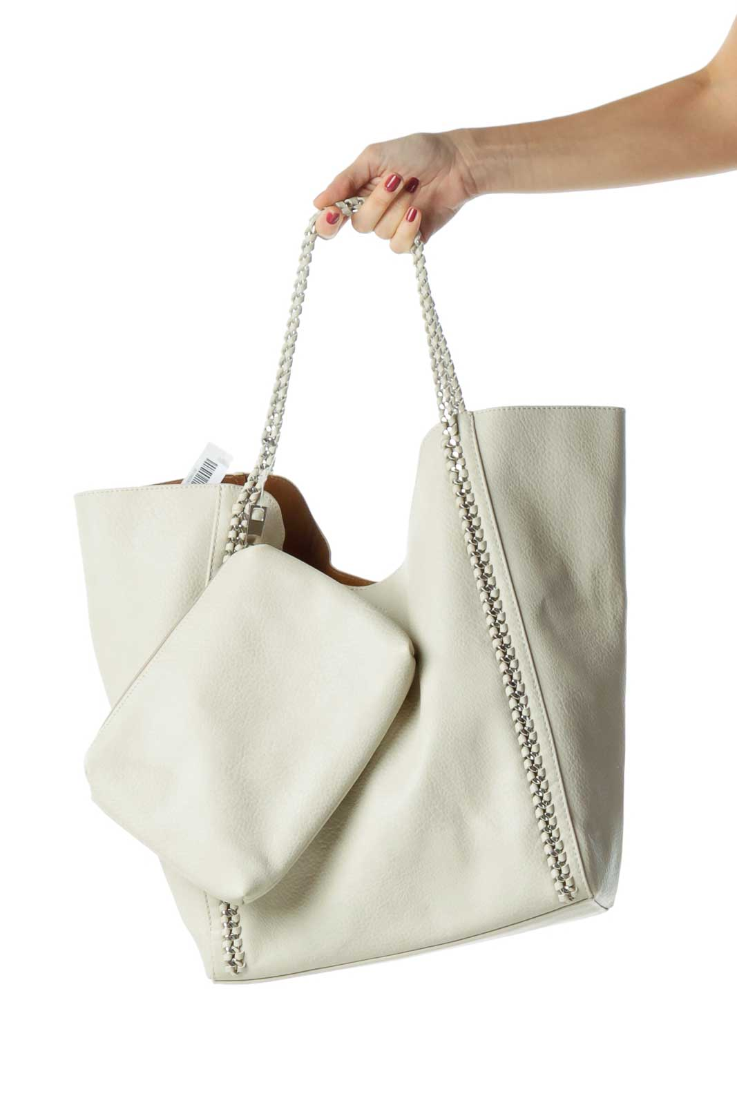 Gray Chain Detailed Tote