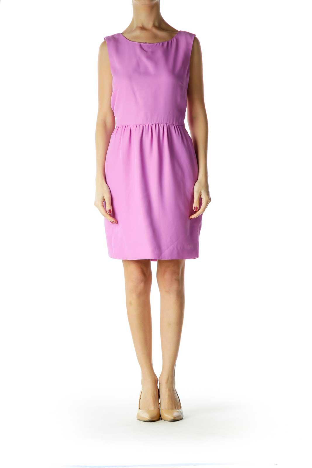 Purple Sleeveless Sheath Dress
