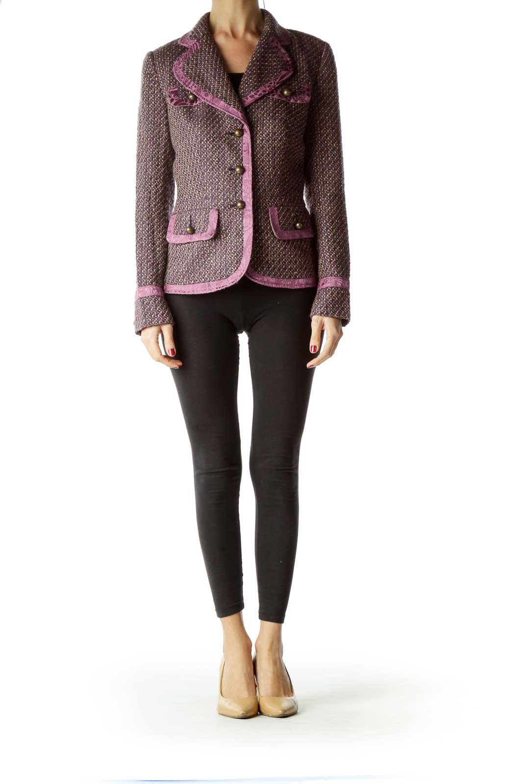 Purple Tweed Suit Jacket