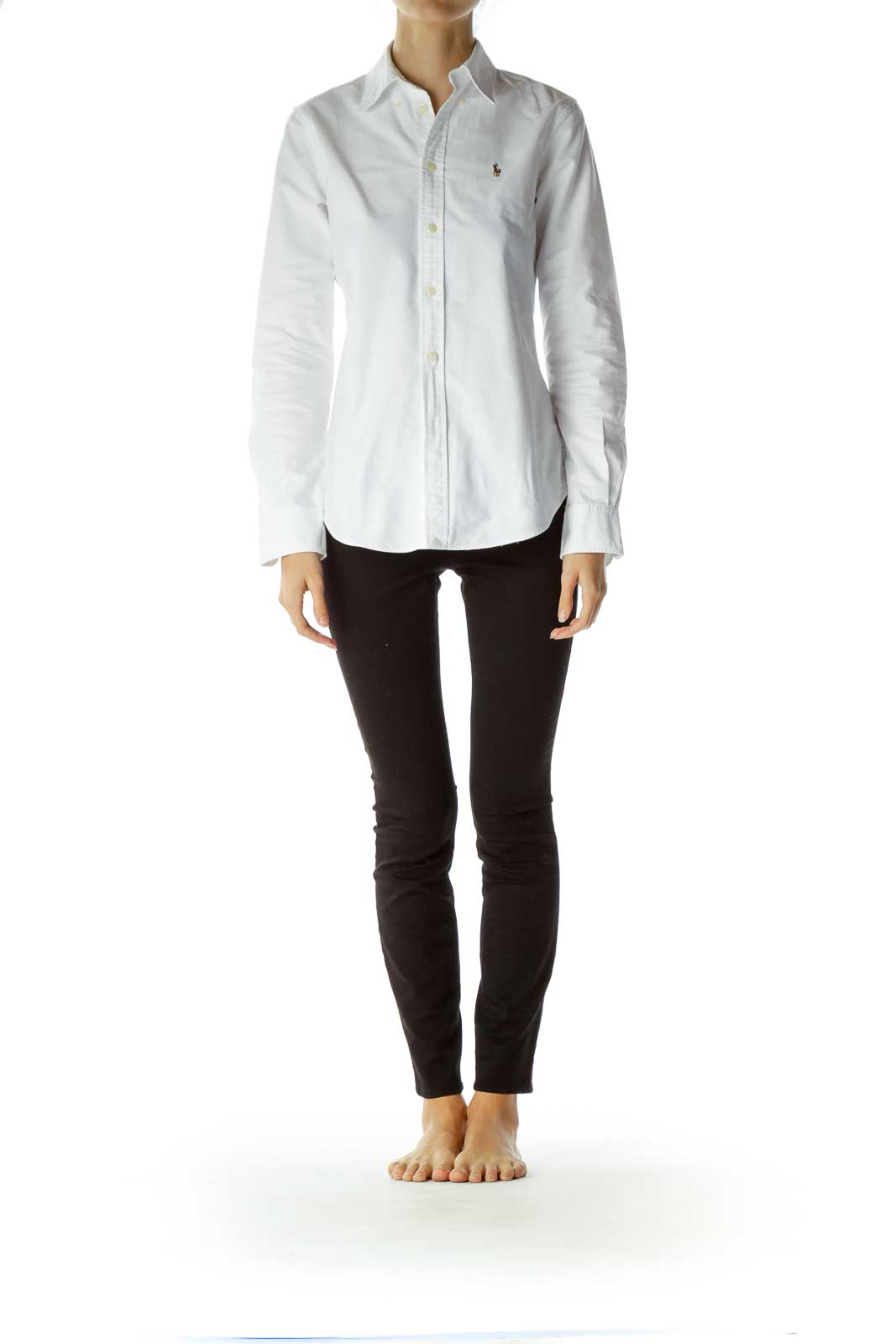 White Collared Buttoned Shirt