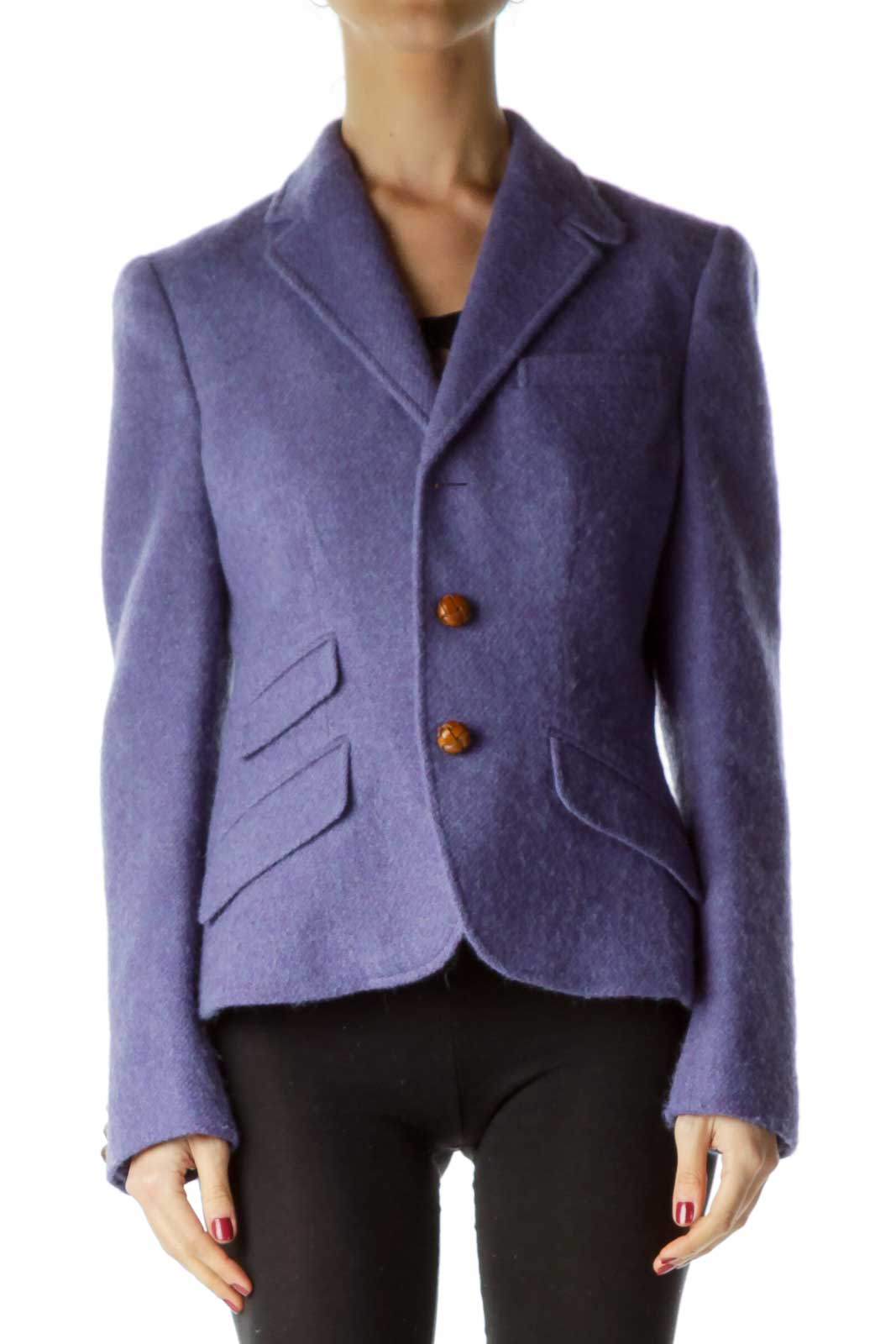 Purple Lambs Wool & Alpaca Blazer